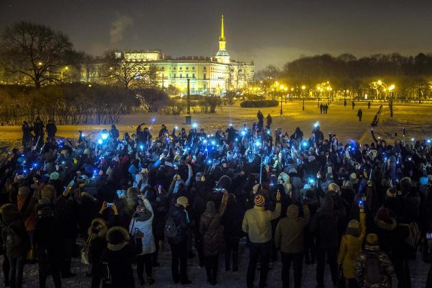 Митинг 14 февраля 2021 в Москве