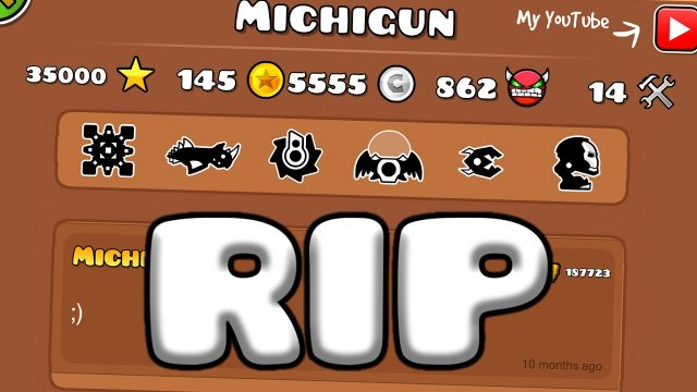 Michigun из Geometry Dash умер