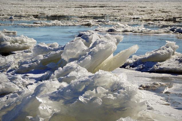 Обстановка с ледоход на Томи в Томске