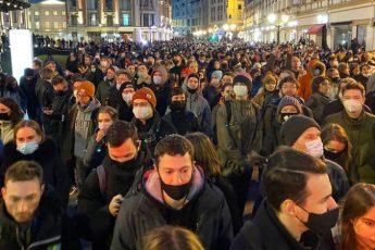 Сколько человек вышло на митинг 21 апреля 2021