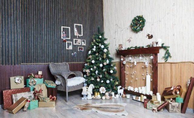 Идеи для новогоднего или рождественского декора прихожей