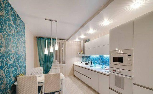 Натяжной потолок на кухне - сочетание стиля и практичности