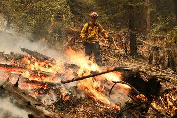 Explosive California wildfire 'knocking on the door' of Tahoe area
